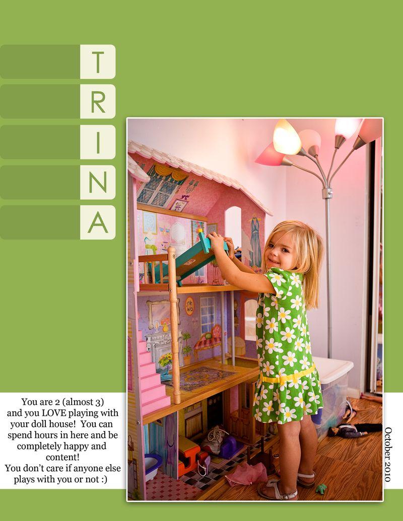Trina doll house